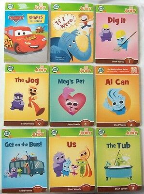 LeapFrog Tag Junior Jr Board Book Lot Disney Cars Shapes Phonics Learn to Read