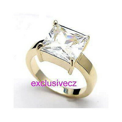 WEDDING PARTY SPECIAL~~~4 Carats Yellow Gold Plated 18K GP Wedding Ring Size 10