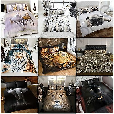 Animal Photographic Print Duvet Cover Sets Available In Single And Double Sizes