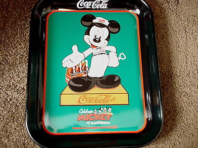 """COCA-COLA 2004 """"InspEARations"""" 75 YEARS OF MICKEY MOUSE METAL TRAY"""