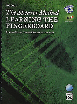 Aaron Shearer Method Learning The Fingerboard Book 3 Classical Guitar Book/DVD