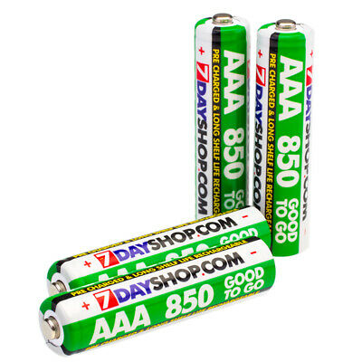 4x AAA 7dayshop 850mAh Good to Go PRE & STAY CHARGED NiMH Rechargeable Batteries