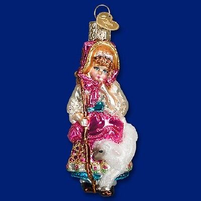 """Little Bo Peep"" (10215) Old World Christmas Glass Ornament w/ OWC Box"
