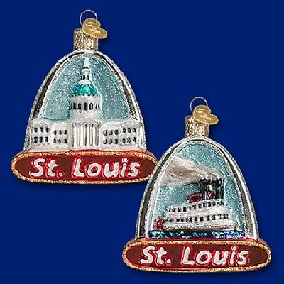 """""""St. Louis Arch"""" (20073) Old World Christmas Glass Ornament"""