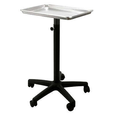 Steel SILVER Rolling Adjustable Salon Mayo Style Tray Medical Equipment Stand