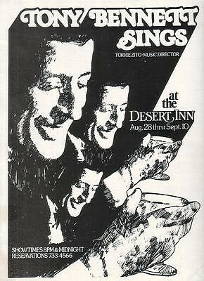 Tony Bennett 1979 Ad- at the Desert Inn