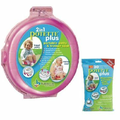 Kalencom 2 in 1 Potette Plus Portable Girls Potty-Toilet Training Seat with 30 P