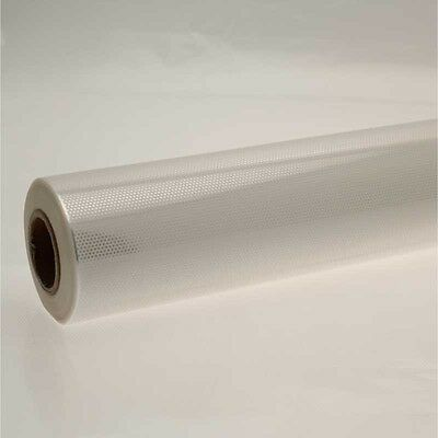 10m WHITE HONEYCOMB CELLOPHANE on CLEAR 80cm Florist Craft Gift Film Roll