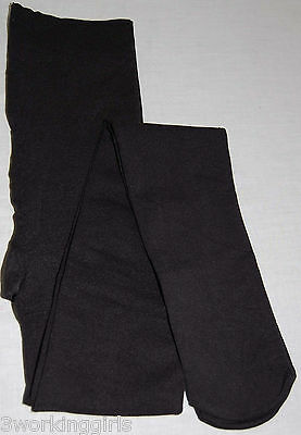 HUE Black Opaque Tights Footed Control Top Tights  Size 1 Small NEW Made USA