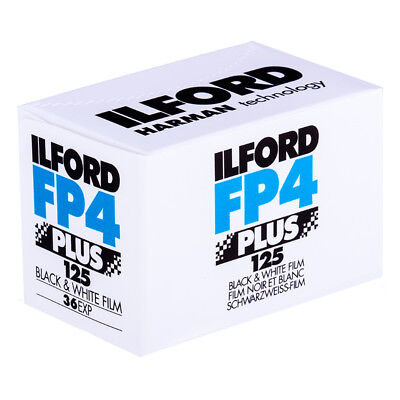 Ilford FP4+ 125 ASA 35mm Black and White Print Film 135-36 Exposure