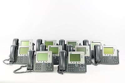 Lot of 10 Cisco Systems CP-7940G IP Phone VoIP Telephone 7940 Handset & Cords