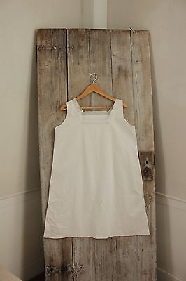 Vintage French white cotton with lace nightdress night gown