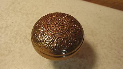 1 antique Fancy Brass Door Knob  No. 17