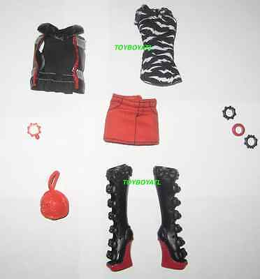 Monster High Werecat Twin Sisters Meowlody Outfit ONLY Complete Boots/Shoes NEW