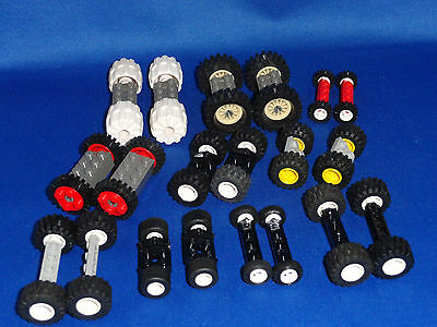 LEGO VEHICLES WHEELS TIRE AXLES BUILDS 10 CARS GREAT FOR KIDS HOUSE CITY TRAIN