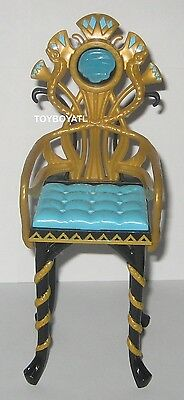 Monster High Cleo De Nile Gold Black Turquoise Vanity Chair Doll Furniture NEW