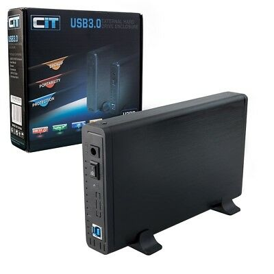 "CIT USB 3.0 External Hard Drive Enclosure for 3.5"" Hard Drives (Up to 2TB) U3PD"