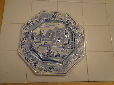 VINTAGE SPODE BLUE ROOM SUTHERLAND COLLECTION CARAMANIAN OCTAGON PLATE