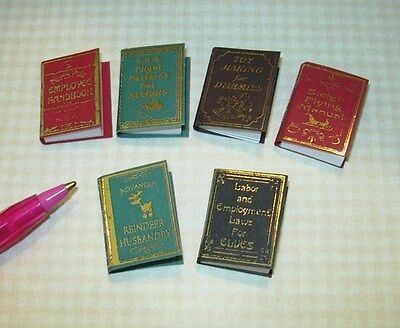 Miniature Santa's Workshop Manuals, Set of 6 for DOLLHOUSE Books Christmas 1/12