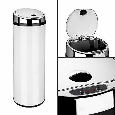 Dihl 30L 42L 50L Origin Round White Kitchen Waste Automatic Sensor Bin