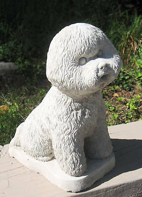 Concrete Bichon Frise Statue Or Use As A Monument