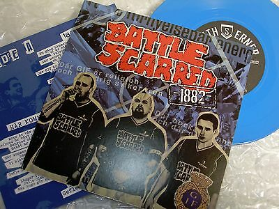 BAT Scarred Ep 1882 Blue Wax New Sweden Oi! Skinhead Punk Sweden OI! NEW !