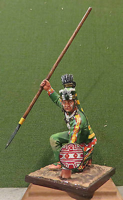 Military Miniatures from St.Petersburg, Russia - Aztec Spearman, crouching