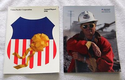 2 New Union Pacific Railroad Annual Reports 1990 1991