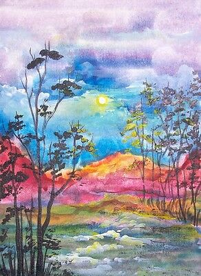 MORNING DELIGHT   -   Unique, Original Hand painted ACEO Art Card