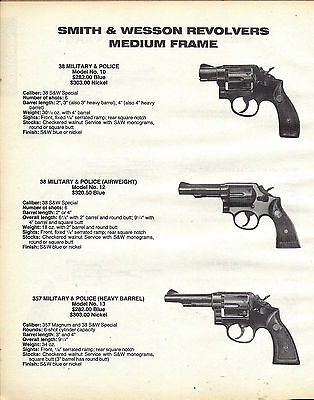 1987 Smith & Wesson Model 10, 12, 13 38 Military & Police Revolver Ad