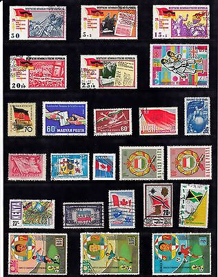 FLAGS Thematic Stamp Collection USED Ref:F945