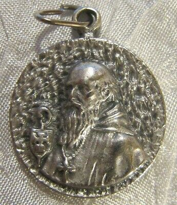 Vintage Religious Catholic Holy Medal / Saint Benedict / Unique Design - NICE