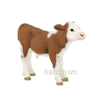 Papo 51134 Simmental Calf Farm Animal Figurine Model Toy Play Cow Gift - NIP