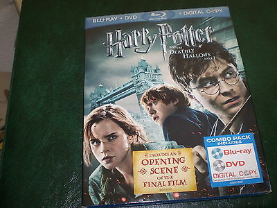 HARRY POTTER and the DEATHLY HOLLOWS  a set of 3 BLUE-RAY DVD's