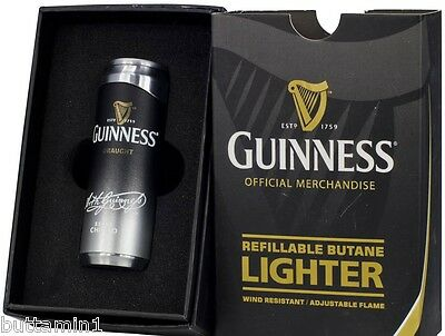 GUINNESS Beer Can JET TORCH LIGHTER Colibri REFILLABLE Butane NEW in the Box
