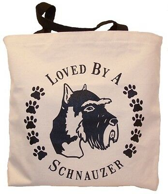 Loved By A Schnauzer Tote Bag New  MADE IN USA