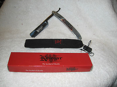 BEAUTIFUL GERMAN STYLE STRAIGHT RAZOR    STAG HORN)