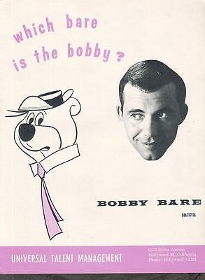 Bobby Bare 1964 Ad- which one is the bobby?/Yogi Bear/Universal Management