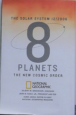 2006 National Geographic 2 sided Poster The Solar System 8 Planets A New Cosmic