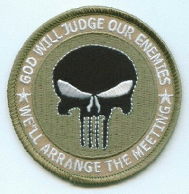 LOT OF 5 - GOD WILL JUDGE OUR ENEMIES #2 BIKER PATCH