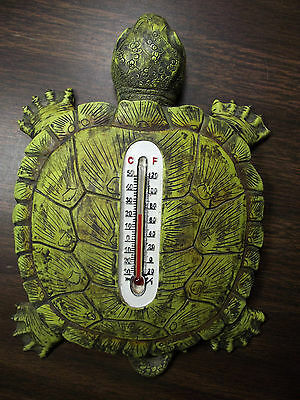 Turtle Wall Desk Thermometer Spoontiques Resin Green 7 Inch Fahrenheit Celsius