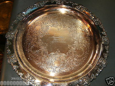 RIDEAU SILVER PLATE SEVING PLATTER