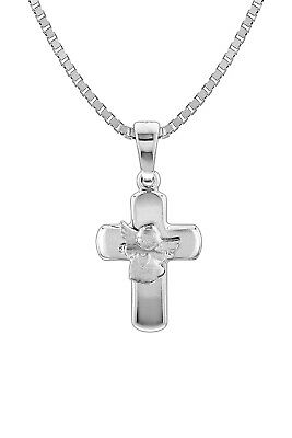 Trendor Jewellery Silver Necklace with Crucifix Pendant 78711