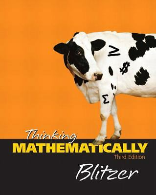 Thinking Mathematically by Robert F. Blitzer. 0131432435 Hardcover Book. Accepta