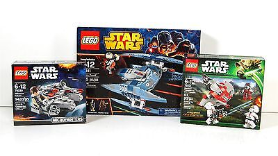 Lot of 3 NIB Lego Star Wars Sets w/ 75041 Vulture Droid 75001 75030 Microfighter