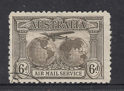 AUSTRALIA 1932 6d Sepia AIR MAIL SERVICE Very Fine Used **