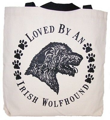 Loved By An Irish Wolfhound Tote Bag New  MADE IN USA