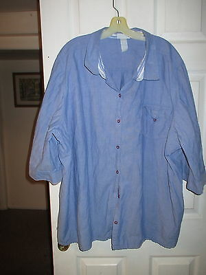 Blue Cotton Blouse by Liz & Me   size 5X