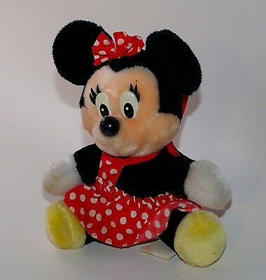 Vintage Disneyland Minnie Mouse Park Plush Doll Stuffed 8""
