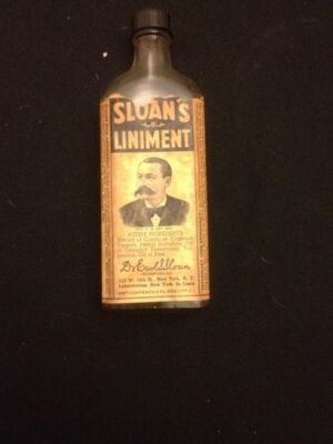 X-RARE SLOANS LINIMENT & PAIN ANNIHILATOR,LABEL INTACT W/LID